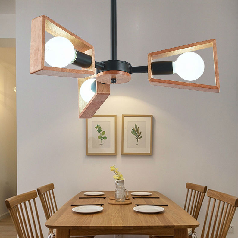 Nordic solid wooden Pendant Light modern simple bedroom restaurant lights personalized creative wooden living room Ceiling Lamp chinese style classical wooden sheepskin pendant light living room lights bedroom lamp restaurant lamp restaurant lights
