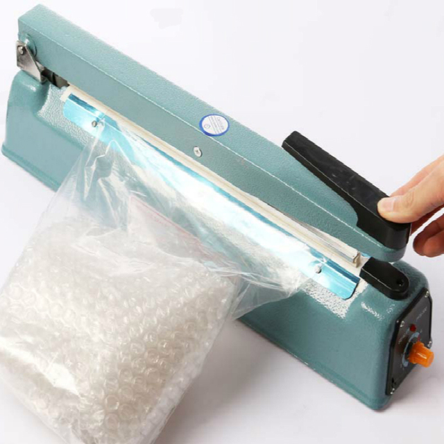 16 400mm Manual Impulse Heat Sealer Poly Bag Machine Shrink Wrap Free Element Fs
