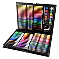 1Set 168 PCS Color Pens Colorful Pencil Wax Crayon and Oil Painting Brush Children Drawing Pen Tool Set Art Drawing Plastic Toys