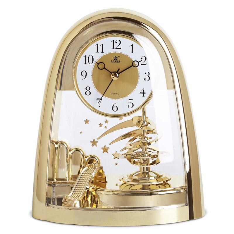 Puissance marque silencieux chronomètre mouvement horloge de Table 360 degrés bidirectionnel pivotant pendule bureau horloge salon décor à la maison