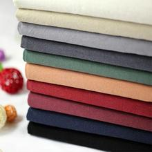 LEO&LIN Vintage Cotton Linen Fabric Soft water-wash Handmade DIY for Dress Patchwork Sewing (1 meter)
