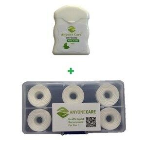 Зубная нить из фторопласта, 5 шт. в коробке, легко впасть в зубную нить, сменная катушка для зубной нити