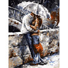 Romatic Lover DIY Painting By Numbers Wall Art Figure Picture For Living Room Modern Decoration Picture