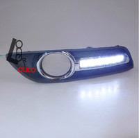 Daytime Running Lights With Yellow Turn Signals Car Accessories LED Fog Lights For Nissan Sylphy 2012