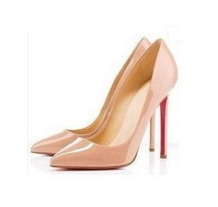 New 6 Colors Big Size Women's Pumps Sexy Red Bottom High Heels Pointed Toe Shoes Woman 2015 Brand New Design Wedding Party Shoes