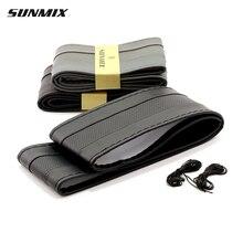 SUNMIX дышащий тип рулевого колеса дышащая швейные руль обложка DIY классический рулевое обложка мягкая коса на колеса