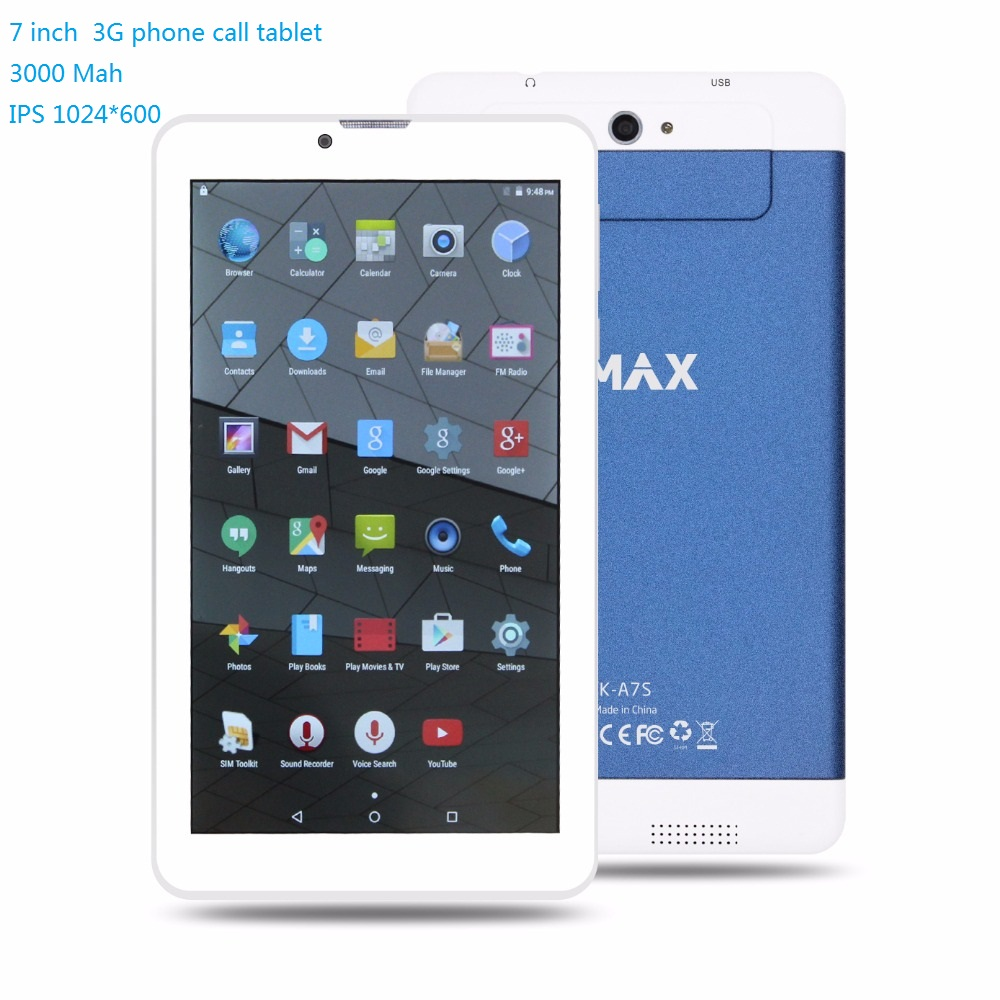 KMAX 7 inch 3G Phone Call Tablet pc Android Dual SIM Quad Core wifi bluetooth cheap gift phablets 8GB Mini pad 8 9 10 Holder