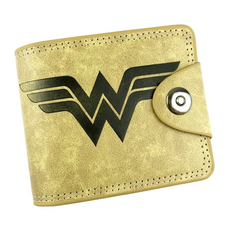 Hot 2018 Anime Wonder Woman Wallets Cartoon Characters Super Girl Hero Purse Leather Card Holder Bags Dollar Price Gift Wallet hot new 2018 anime purse wonder woman wallets hero women pu leather card money bags carteira feminina dollar price short wallet