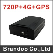 4G 4 channel CAR DVR, 720P mobile DVR with 4G and GPS, support live monitoring on iphone