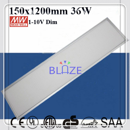 Mean Well Driver 1 10V DIM 36W Flat Suspended Led Ceiling Panel Wall Lights 150x1200mm Dimmable 8pcs/Lot