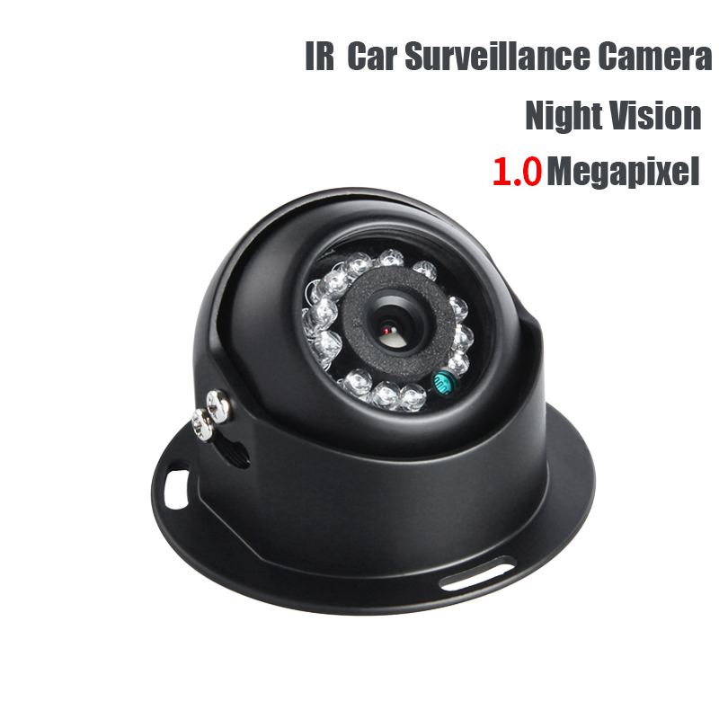 1/3 CCD Car Camera Indoor HD IR Night Vision 3.6mm PAL  AHD 1.0MP Cam for Vehicle Bus Truck Vans Taxi Record Free Shipping