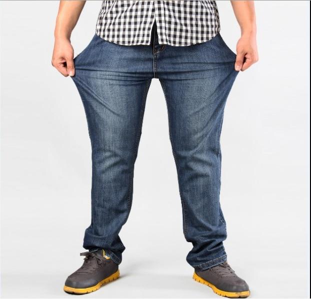 Men Plus Size Pants jeans strech comfortable 38 40 42 44 46 48 50 52 Mens High Stretch Large Trouser Loose Jeans for Men