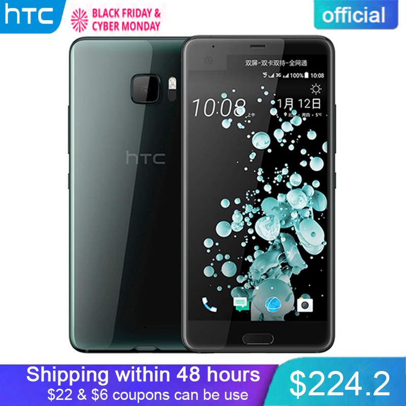 "Original Official HTC U Ultra 4GB RAM 64GB ROM Dual Display Smart Phone Snapdragon 821 Quad Core 5.7"" 2560x1440px Android 7.0"
