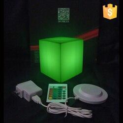 للماء IP65 D10 * 10*10 سنتيمتر الإضاءة ليد مكعب الجدول مكعب شحن مجاني 20 قطعة/الوحدة