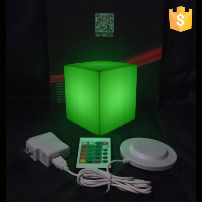 Waterproof IP65 D10*10*10cm Lighting Cube Led Table Cube Free Shipping 20pcs/Lot