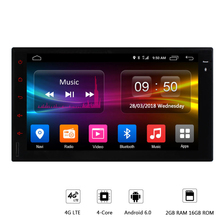 hot deal buy new 4 core android 6.0 car multimedia player 2g ram 16gb rom support 4g lte sim network car gps 2 din universal car radio player