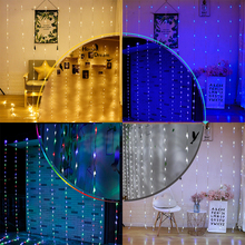 hot deal buy water flow christmas lights outdoor decoration 3*3m 320 leds curtain icicle string lights garden xmas party decorative lights