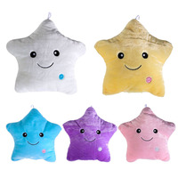 Colorful Body Pillow Star Glow LED Luminous Light Pillow Cushion Soft Relax Gift Smile 5 Colors
