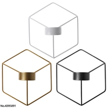 Nordic Style 3D Geometric Candlestick Metal Wall Candle Holder Sconce Home Decor halloween or christmas gift