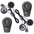 2 UNIDS FDCVB BT interphone Bluetooth Motocicleta intercomunicador del casco de Auriculares + Auricular Suave