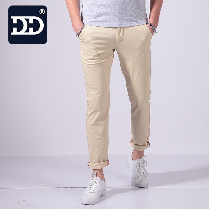 DINGDI'S Skinny Pencil Pants Slim Cotton For Men
