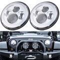 2 unids 7 pulgadas 40 W LED Proyector Del Faro Para Jeep Wrangler JK/TJ/LJ/CJ Motocicleta faro