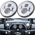 2pcs 7inch 40W LED Projector Headlight For Jeep Wrangler JK/TJ/LJ/CJ Motorcycle Headlamp
