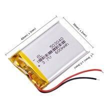 3,7 в литий-полимерный аккумулятор 503040 053040 перезаряжаемые литий-полимерные батареи MP3-плеер DVR gps Bluetooth DIY Аудио/игрушки 600 мАч
