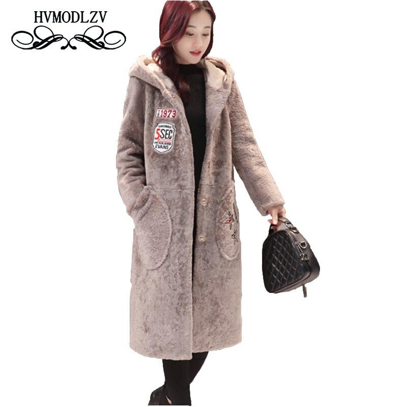 Здесь продается  Winter woman Wool woolen Coat 2017 new fashion hooded thickening Long woolen jacket overcoat Plus size loose female Parka  lj168  Одежда и аксессуары