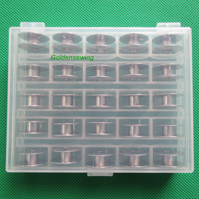25 PCS HIGH QUALITY METAL BOBBINS FOR Juki TL-98P TL-98Q TL-98QE TL-2000Qi TL-2010Q +25 PCS HIGH QUALITY METAL BOBBINS FOR Juki TL-98P TL-98Q TL-98QE TL-2000Qi TL-2010Q +