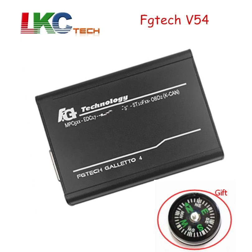 Цена за DHL Бесплатная FGTECH galetto 4 Мастер ЭКЮ чип-тюнинг инструмент новые версии FG Tech V54 BDM-TriCore с компасом как подарок