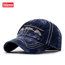 UNIKEVOW New arrivel 100% cotton baseball caps Casual washed hat with high quality  Outdoor for men and women