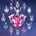 12 Constellation Crystal Necklace Lucy Birthday Gift Boho Hippie Zodiac Choker Necklace Women Bijoux Femme