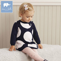 DB5531 Dave Bella Autumn Infant Baby Girl S Knitted Sweater Dress Kids Fashion Party Birthday Dress