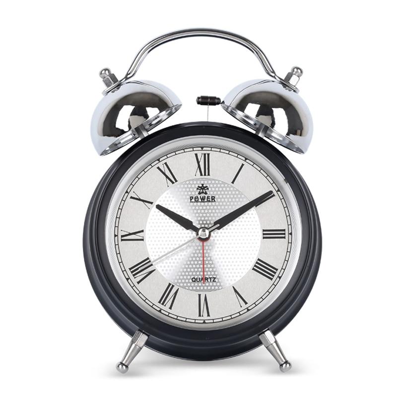 POWER Luminoso Mecánico Despertador Silencioso Cronómetro - Decoración del hogar - foto 3