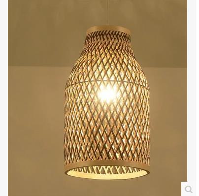 Southeast Asian Chinese antique tea bamboo rattan lamp chandelier lamp box Farmhouse Inn YA7265