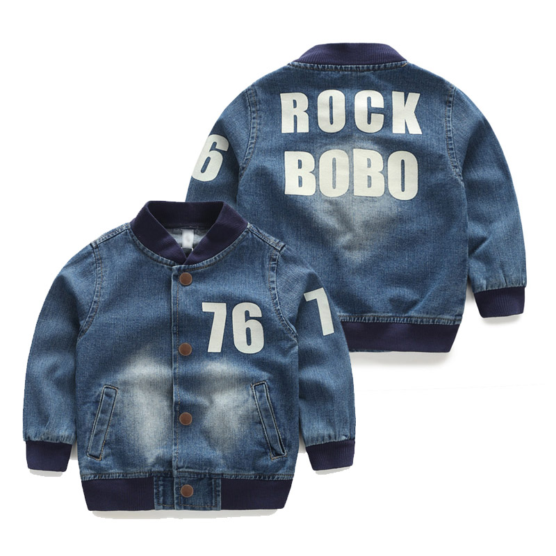 2016 Children'S Male Autumn Child Clothing Baby Boy Long-Sleeve Denim Jacket General Outerwear Top
