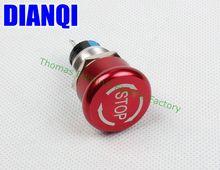 19mm de Metal de aluminio A Prueba de agua Interruptor de Botón Botón de enclavamiento seta de parada de emergencia botón de prensa 19 MGJT (STOP)/L, S.K