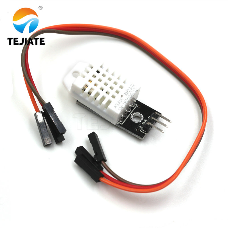TEJIATE DHT22 Digital Temperature And Humidity Sensor AM2302 Module+PCB With Cable Dropshipping
