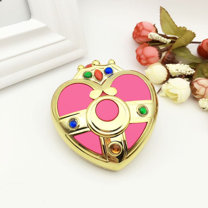 Sailor Moon Mini Makeup Compact Portable Pocket Mirror Cosplay Prop Folding Make Up Mirror Cosmetic Mirrors For Gift