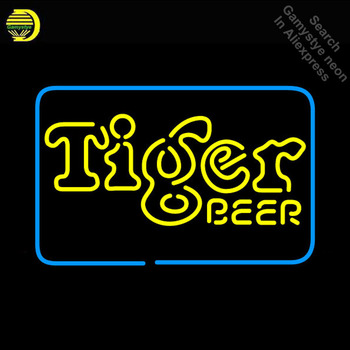Tiger Neon Beer Neon Sign neon Light Sign arcade Lamp galss tubes Indoor Restaurant Commercial Neon signs for sale Dropshipping