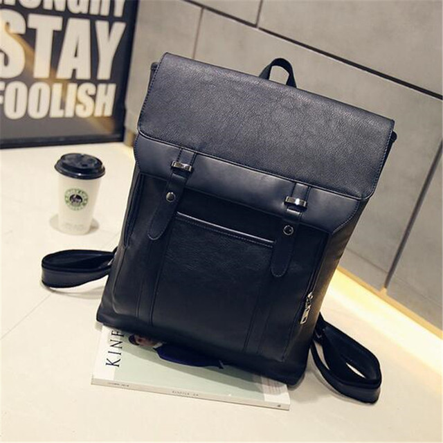 150b5a67522 New men backpacks vintage leather backpack big size travel bag student  casual laptop backpack school bags for teenagers girls