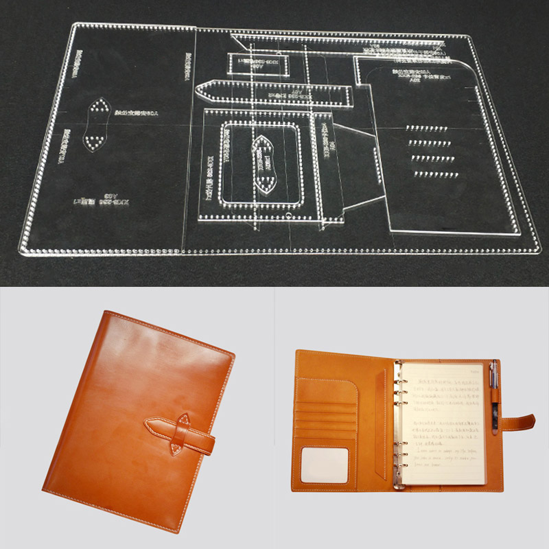 A5 Loose Leaf Notepad Hand Account Acrylic Special Template DIY Handmade Leather Notebook Paper Pattern Design 17.5x24x3cm