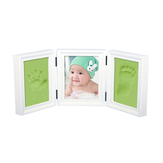 Photo Frame Handprint Footprint Soft Clay Baby Shower DIY Safe Inkpad Non Toxic Easy Use Best Gift For New Cute Baby