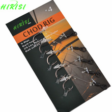 10 Carp Fishing Hooks Ready Tied Chod Rigs Fishing Hook Link Hair Rigs Swivels For Pop Ups Fishing Size 2 4 6 8