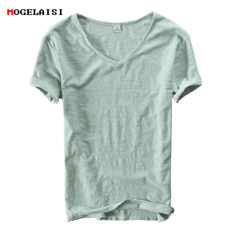 Summer Men linen cotton   t     shirt   men short sleeve V-neck breathable soft Loose Thin white   t  -  shirt   men Asian size M-XXXL 201