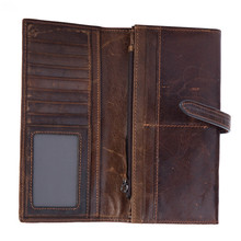 Mens wallet leather card bag top layer cowhide oil wax skin coin purse 8802