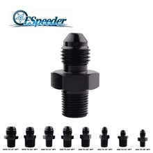 ESPEEDER Black Aluminum Male AN8 TO 1/4 3/8 AN6 3/8AN4 NPT Straight Adapter Oil Cooler Fitting