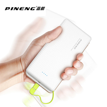 Original PINENG PN-951 10000mAh Portable Fast Charging Battery Mobile Power Bank Dual USB Output Li-Polymer Charger