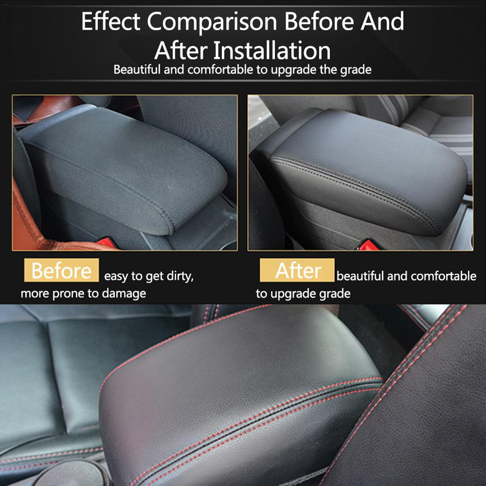 1pc Waterproof Car Leather Jacket Central Armrest Box Protective Leather Cover For VW Golf 7 MK7 2013 2017 Easy To Clean Automobiles Seat Covers    - AliExpress